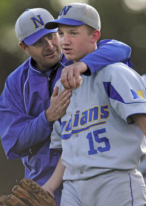 In 2009, Eric Frank (pictured left) was the head coach for the Newington High School boy's baseball team.