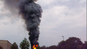 Neighbor captures train explosion on camera [Video]