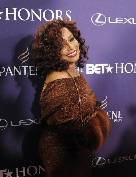 Singer Chaka Khan arrives at the BET Honors red carpet at the Warner Theatre in Washington, D.C.