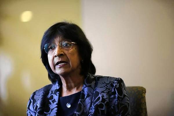 U.N. High Commissioner for Human Rights Navi Pillay speaks to Reuters at her hotel in Madrid.
