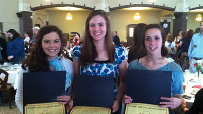 Three Bishop Carroll juniors each received a $60,000 scholarship from Seton Hill University.