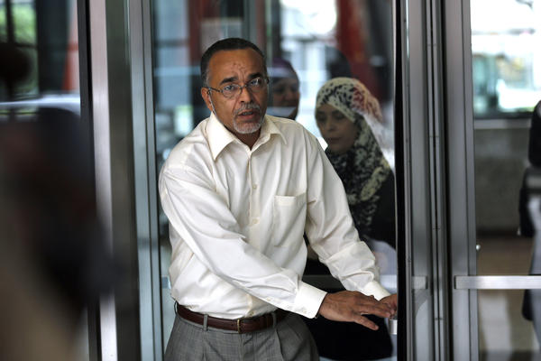 Ahmad Tounisi leaves the Dirksen U.S. Courthouse after a court appearance for his son, Abdella Ahmed Tounisi.