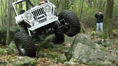 Rock Run Recreation Area near Patton offers visitors a chance to enjoy more than 140 miles of trails on all-terrain vehicles, dirt bikes, off-highway vehicles and more. Here, one of the vehicles navigates one of the attractions rock-crawler paths.