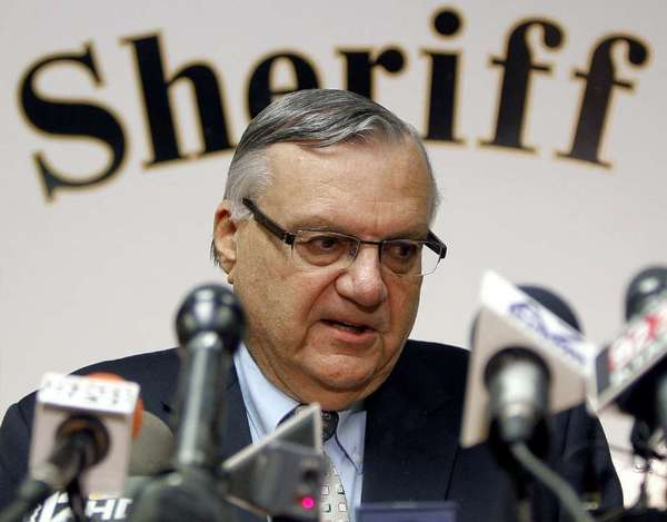 Maricopa County Sheriff Joe Arpaio conducts a news conference in Phoenix last year.