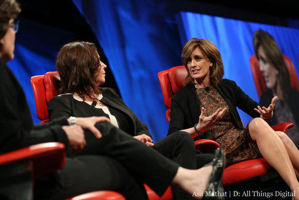 """Pretty Little Liars"" executive producer Marlene King, center, and Disney/ABC Television President Anne Sweeney, right, talk about the relationship between Twitter and TV with All Things Digital's Kara Swisher, left."