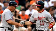 Nationals third baseman Ryan Zimmerman made history on Wednesday night, becoming the first National League player to hit three or more homers at Camden Yards.