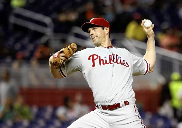 Phillies pitcher Cliff Lee , like all Major League baseball players, wears a uniform made at VF Majestic in Palmer Township.