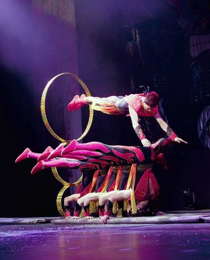 """Cirque Shanghai: Dragon's Thunder,"" which runs through Sept. 2 at Navy Pier's Skyline Stage, features 36 performers from China in acts that include tumbling, juggling, balancing and drumming."