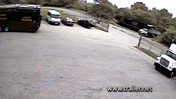 Surveillance video shows moment of impact between train and truck [Video]