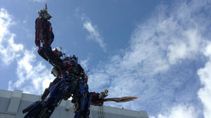 Picture: Optimus Prime figure now atop Universal's Transformers ride