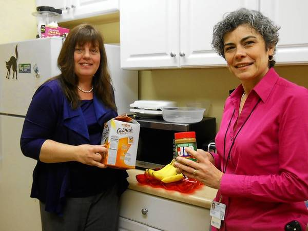 "Jill Heinking, public health nurse for the village of Mount Prospect and Victoria Bran, coordinator of the village's Community Connections Center, are teaching nutrition classes as part of this summer's ""Health in Motion"" walking program."