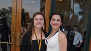 Alysia Muoio, 17, Junior at Boca Raton High (Palm Beach County) Stephany Goulart, 17, Junior at Boca Raton High (Palm Beach County) pose outside the Broward Center for the Performing Arts at the 11th Annual Cappies Gala in downtown Fort Lauderdale on May 21.