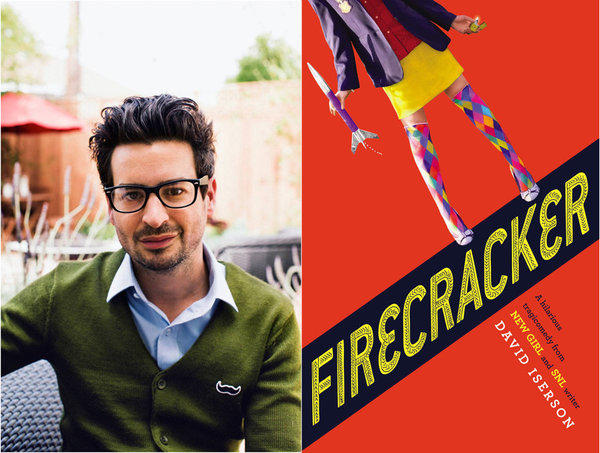 "David Iserson and his young adult novel ""Firecracker."""