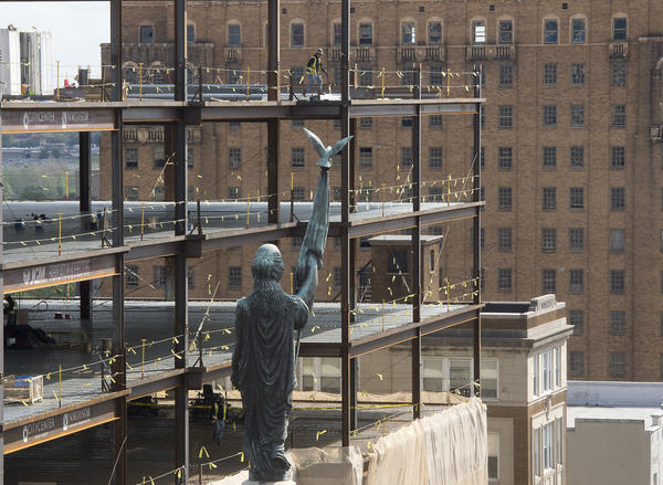 Construction continues on Allentown's Two City Center.