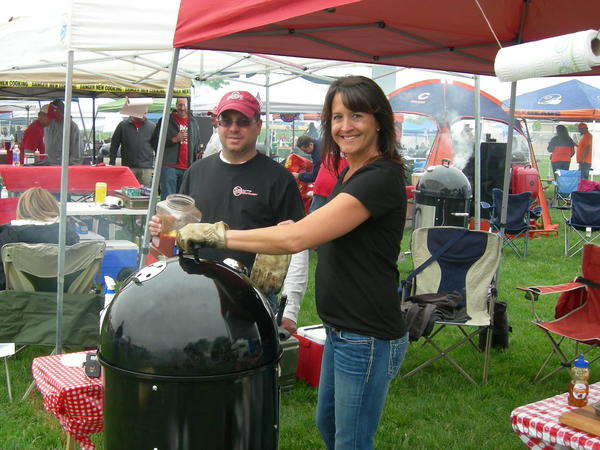 John and Kristin Balonier drove from Ohio to compete in the BBQ contest.