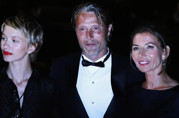 "Delphine Chuillot, Mads Mikkelsen and Hanne Jacobsen attend the ""Michael Kohlhaas"" premiere during the Cannes Film Festival."