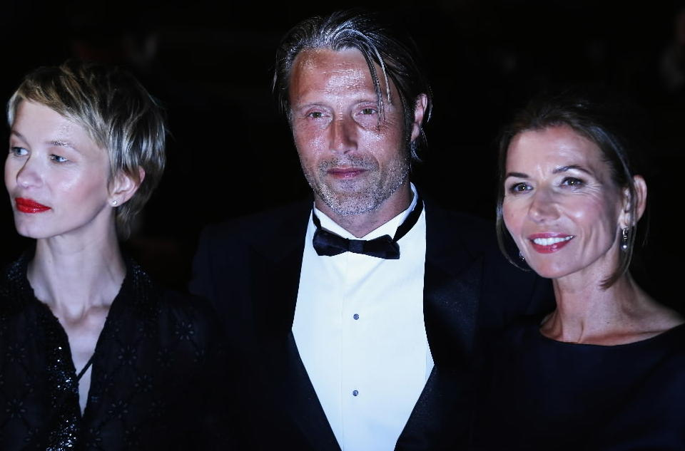 """Delphine Chuillot, Mads Mikkelsen and Hanne Jacobsen attend the """"Michael Kohlhaas"""" premiere during the Cannes Film Festival."""