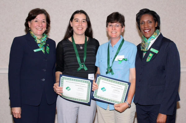 Mary Barneby, CEO, Girl Scouts of Connecticut; Diana Robert of Milford; Ann McDonald; and Teresa C. Younger, Board President, Girl Scouts of Connecticut.