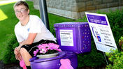 VIDEO: Purple toilet to flush out cancer