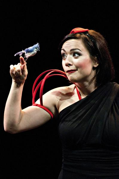 "Michelle Knight, as Snow White, has a feathered friend in ""Disenchanted!"""