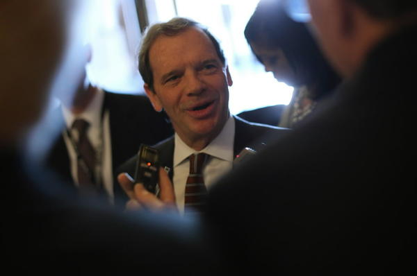 Senate President John Cullerton, D-Chicago, speaks to reporters on Wednesday. The Senate on Thursday defeated Speaker Michael Madigan's version of pension reform.