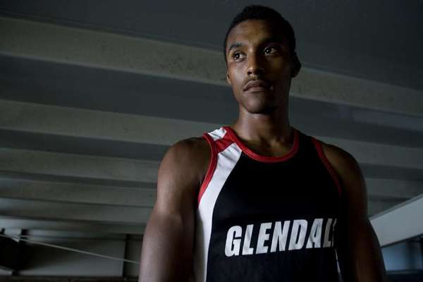 ARCHIVE PHOTO: Glendale High's Michael Davis is looking to make himself one of the Nitros all-time legends at the CIF State Track and Field Meet.