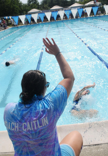 A 2011 image from Dorsey Hall Pool in Columbia. The Columbia Association is exploring the possibility of converting the pool into a heated outdoor pool open year-round.