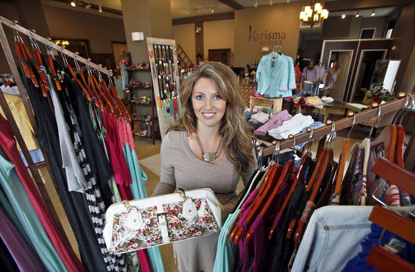 Melissa Larson, owner of Karisma Boutique at 104 S. Main St.