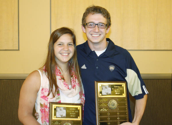 Academics and athletics at Adams High School are a big part of the lives of Kiwanis award recipients Molly Meyer and Tommy Favorite.