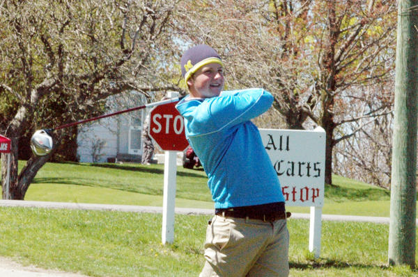 Petoskey senior Cam Ludlow shot a team-best 83 and finished eighth overall Thursday at the Division II district tournament at Katke Golf Course in Big Rapids. The Northmen shot 336 and finished runner-up to Gaylord.