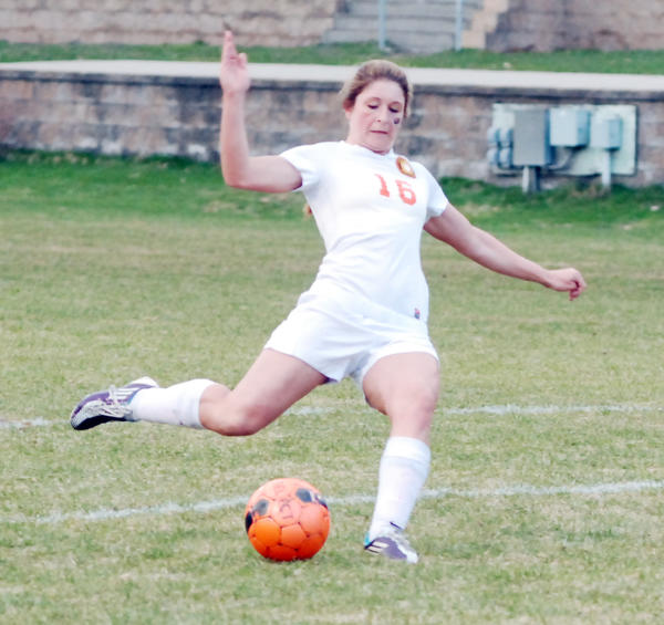 Harbor Springs senior Rhi Cullip scored the game-winning goal for the Rams Thursday in a Division IV district semifinal win over Maple City Glen Lake in Traverse City. Harbor Springs will face Charlevoix in a Division IV district final at 5 p.m. Saturday, June 1, at the Click Road Soccer Complex.
