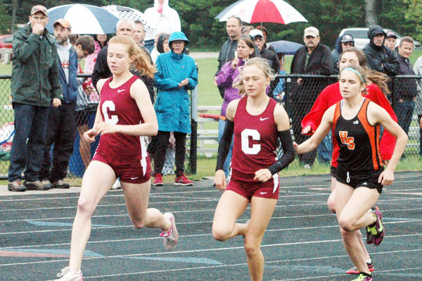 Charlevoix junior Caroline Boss (left) and sophomore Amber Way both will compete in multiple events Saturday at the Division III state finals at Comstock Park.