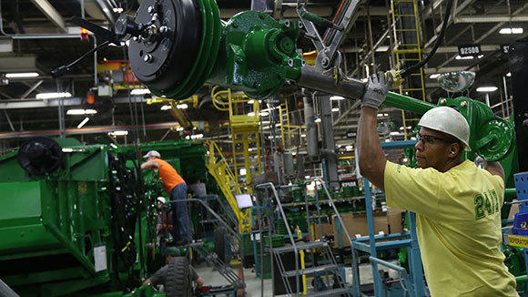 John Deere Assembly Line : Midwest business activity rebounds tribunedigital
