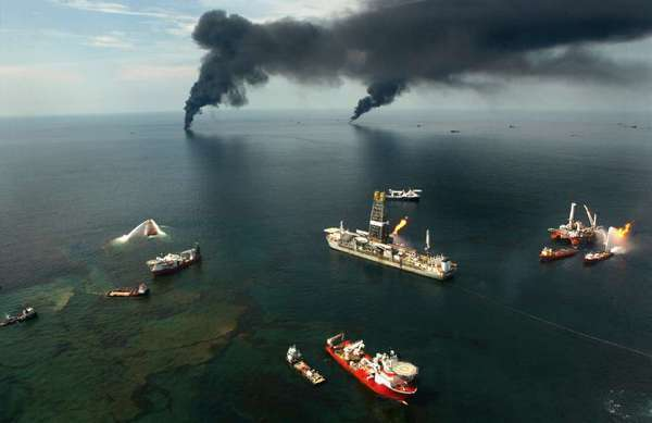The Deepwater Horizon oil spill in the Gulf of Mexico.