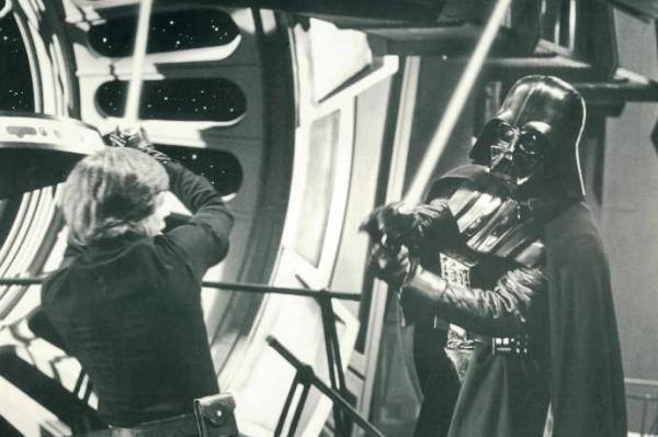 "A scene from ""Return of the Jedi."""
