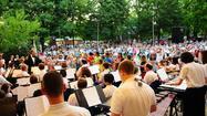 The Wheaton Municipal Band, conducted by Dr. Bruce Moss, presents its 2013 summer concert series. Unless otherwise specified, concerts are Thursday nights at 8 p.m. in Memorial Park, 208 W. Union Ave., Wheaton, IL, 60187