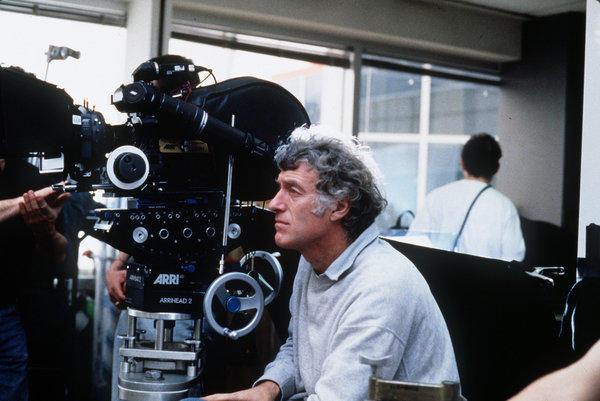 """Cinematographer Roger Deakins on the set of Joel and Ethan Coen's """"Fargo."""" The 1996 movie had filming locations in Minnesota."""