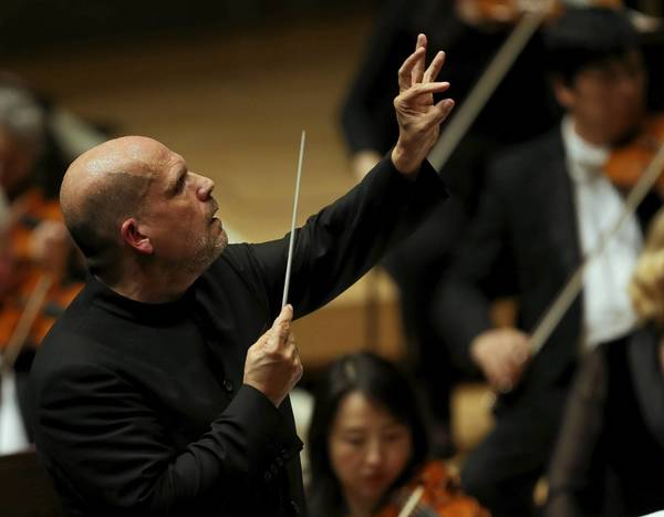 Conductor Jaap van Zweden leads the Chicago Symphony Orchestra at Symphony Center in Chicago on Thursday.