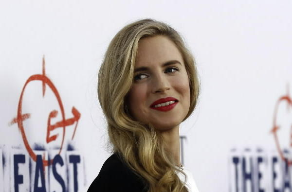 "Cast member Brit Marling poses at the premiere of ""The East"" at the Arclight theatre in Hollywood, Calif."