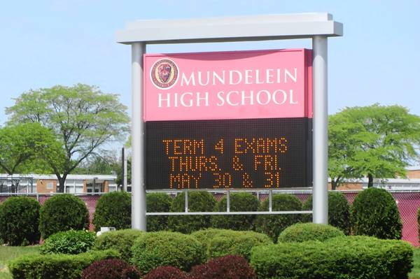 Mundelein High School will replace its sign this summer.