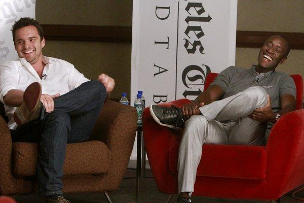 Jake Johnson and Don Cheadle discuss comedy at the Envelope Emmy Roundtable.