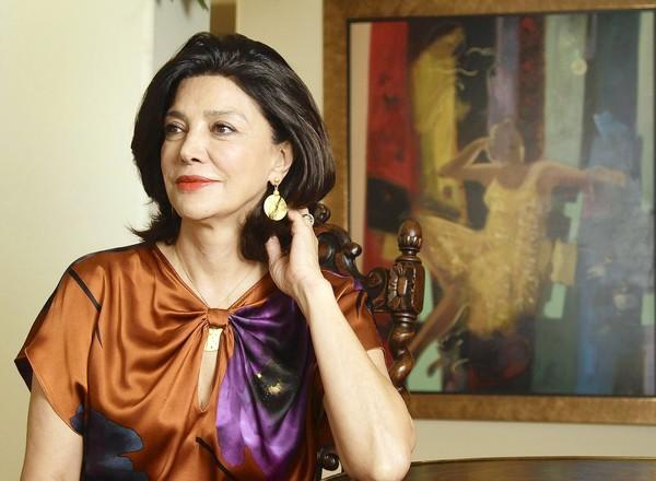 Iranian American actress Shohreh Aghdashloo at her home in Calabasas.