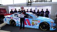 A broken back hasn't slowed Denny Hamlin down, as his competitors in the NASCAR Sprint Cup Series learned once again during Friday's qualifying session for Sunday's FedEx 400 benefiting Autism Speaks at Dover International Speedway.