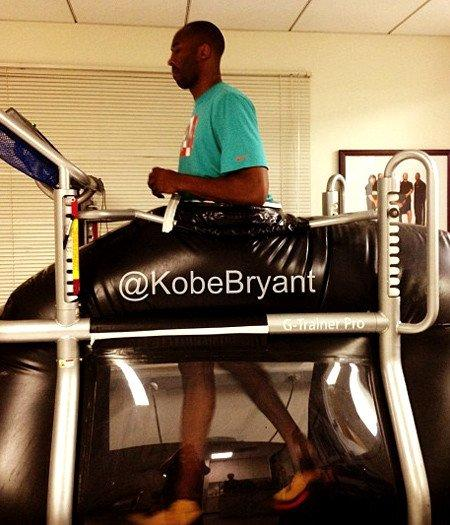 Lakers guard Kobe Bryant on the Alter G treadmill.