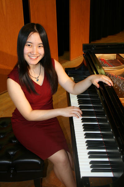 Chaojun Yang, 18, will perform in Bay View to raise money to help pay for her college room and board expenses. She recently received the Young Artists Award at graduation, the most prestigious honor for an Interlochen Arts Academy senior.