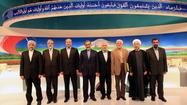 "<span style=""color: black;"">TEHRAN -- Two weeks ahead of Iran's presidential election, the eight officially sanctioned candidates faced off in a nationally televised TV debate which focused mainly on the nation's faltering economy, battered by U.S.-led sanctions tied to Tehran's controversial nuclear development program.</span>"