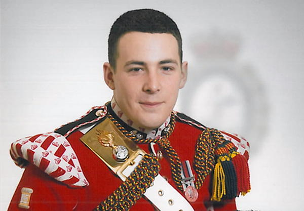 Drummer Lee Rigby, above, died on the scene. A post-mortem gave the cause of death as multiple cuts and stab wounds.