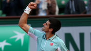 PARIS --World No. 1 Novak Djokovic and seven-time champion Rafael Nadal each moved into the fourth round at the French Open.