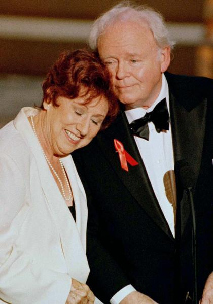"""Jean Stapleton, who played Archie Bunker's wife Edith in the long-running 1970s TV series """"All in the Family,"""" died on May 31."""