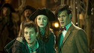 "Rory, Amy and The Doctor find themselves aboard a pirate ship in the episode ""The Curse of the Black Spot."" (BBC)"